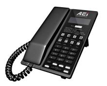 Analogový telefon s DECT základnou  a LCD AEI  AVM-9108-SMD