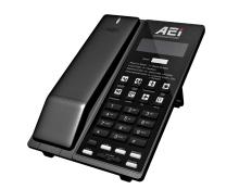 Analogový telefon s DECT základnou  a LCD AEI  AVM-8108-SMK