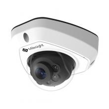 Milesight MS-C5373-PB venkovní IR mini dome IP kamera, 5MP, H.265, VCA